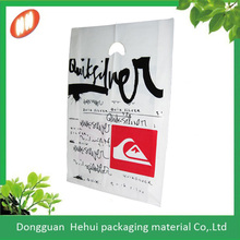 2014 new product ldpe die cut handle bag with colourful printing for shipping
