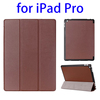 2015 newest arrival 3 Folding Flip leather tablet cover for ipad pro 12.9 stand case