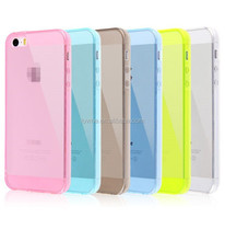 Super Ultra Thin Soft Silicone Soft Cover Rubber Case For iPhone 5S
