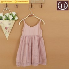 Simple design lace decorative baby girl party dress children frocks designs