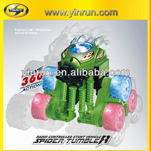 crazy magic car with colorful lights spider tumbler rc cars sale