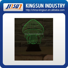 DIY 3d vision mushroom night light for showing your company logo