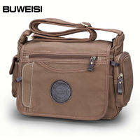 Wholesale BUWEISI durable young man strong canvas shoulder bag for camera