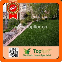 Durable landscape fake grass used for leisure turf garden ornament