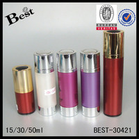 glass cylindrical container with aluminum lotion pump, empty custom champagne bottles, cosmetic brands, alibaba china oem, fob