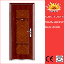 Single hotel modern house entry iron doors SC-S053