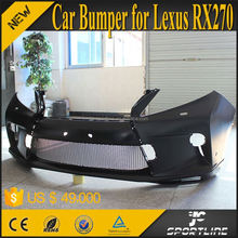Black PU Facelift Style RX270 Front Bumper of Car body kit For Lexus RX270 09-11