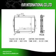 auto aluminum radiator for 3.0 i PAJERO OE No.: MB660077/MB924487