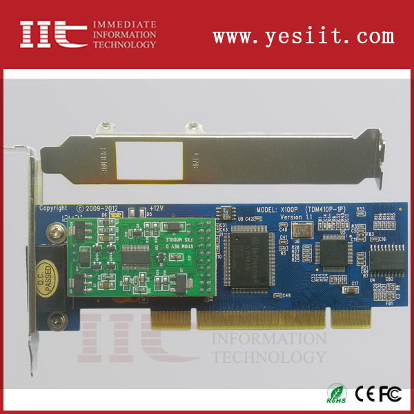 Mejor calidad de la venta caliente 2 ports pci tarjeta del asterisco