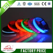 LED Nylon Pet Dog Collar Night Safety LED Light-up Flashing Glow In The Dark Electric LED Pets Cat & Dog