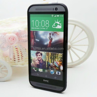 Durable Soft Side And Clear PC Hard Case Cover Shell For HTC One M8