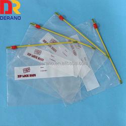 high clarity ldpe slider ziplock bag for arts crafts
