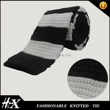 2015 Fashional hand made polyester knitted tie emborider dots