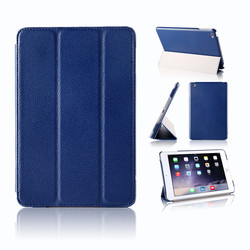 12 Colors Available Ultra Slim For iPad Mini 4 Smart Case Triple Folding Leather Case For iPad Mini 4 Cover Aypad Tablet Cases