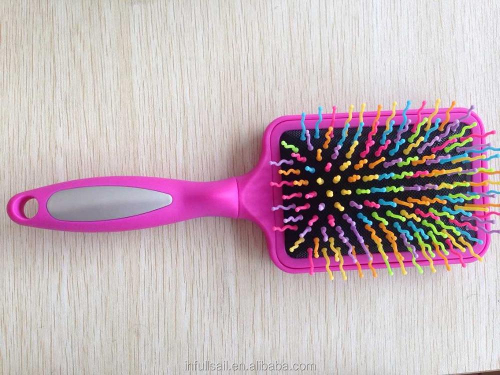 massa dei capelli professionale spazzola districante pagaia doccia spazzola per capelli bagnati o asciutti