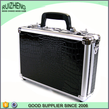Cheap and popular military vintage genuine leather gun case
