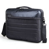 15.6 inch black durable leather briefcase