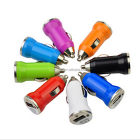 Car charger adapter cigarette lighter suitable for iphone samsung mobile phones ipad 5V 2.1A mini USB car adapter