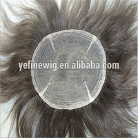 Wholesale High Grade Good Breathable Grey Hairpieces