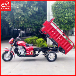 Hot Selling CG200 Single Cylinder Three Wheeler Thickness Cargo Box Tricycle Motor 200CC