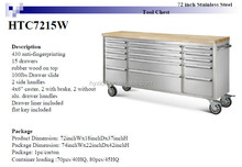 72 inch stainless steel toolbox with wooden top