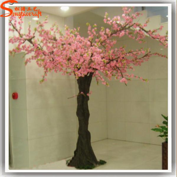 Personnalis artificielle int rieure fleur de p cher arbre for Arbres en plastique artificiels