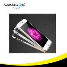 soft transparent holder and aluminum bumper case for iphone 6 ,Perfect Twins!
