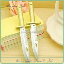 fashion cute plastic cartoon knife pen weapon ballpoint pens