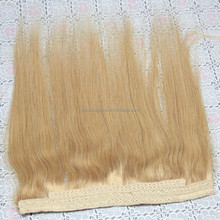 Remy Halo Hair Extension 100% brazilian Human Hair , Flip In Hair Extension, Straight Hair Fish Wire Hair Extension