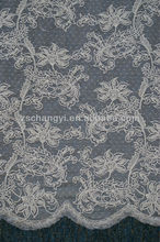 morden design custom embroidery lace fabric for ladies dress
