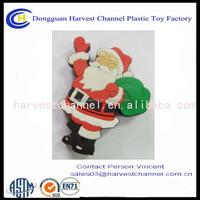 Santa Claus figurine usb storage with keychain pvc usb flash drive