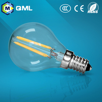 2015 hot sale G45 A60 led filament bulb 2W 4W 6W 8w high quality E27 E14 B22 dimmable led filament bulb lamp
