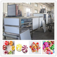 PLC controlled hard candy depositing line---fruit candy