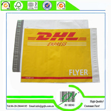 DHL express poly mailing bags with transparent pocket and adhesive tape