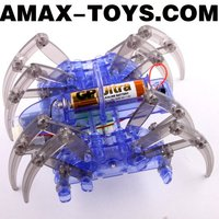eo-445247 DIY spider toys Self-assembling electric running spider robot