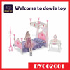 Lower price 2015 new product plastic barbie doll house miniature furniture set DIY toy for kids pretend play game
