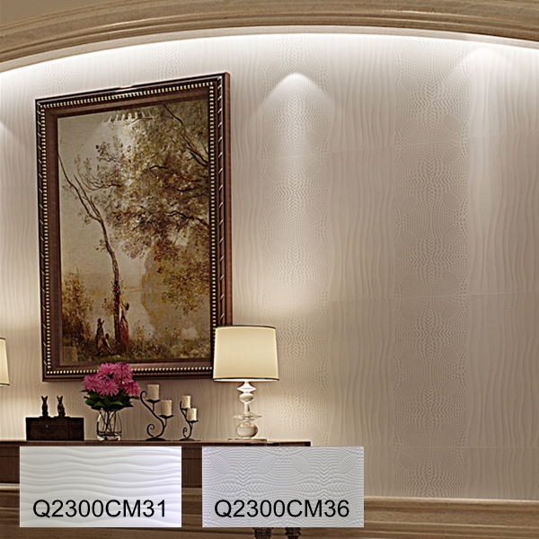 300x600 Porcelain White Wall Tile For Bedroom View Wall