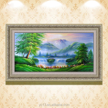 home decor natural scenery pictures landscape handmade fabric oil painting CT-26