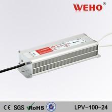 100w voltage regulator 110/220v ac 24v dc waterproof led driver power supply