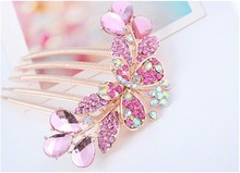 Newest Fashion Grace Flower Tuck Comb, Wedding Bridal Hair Pin Hair Comb