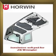 JK 4 Piece Sound Deadener Insulation Kit Hardtop suited for Jeep Wrangler 4 Dr Jk