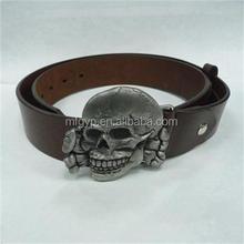 alibaba china custom logo skull belt buckle