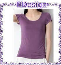 Plain round neck soft fitted 95 cotton 5 spandex tshirts wholesale ladies summer soft cotton t-shirt t shirt wholesale cheap