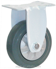 125mm medium duty Grey ER fixed caster with single bearing