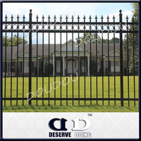 Wholesale price! Prefab Galvanized welded Iron picket fencing/sliding gates
