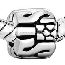European Style Stamp Silver Plated European Bead Gifts For Big Sister Charm Bracelet