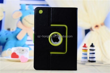 Black Rotating leather case for ipad mini, for ipad mini 2 leather case, smart case for ipad mini 2 HH-IPM05(26)