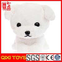 2014 popular plush soft stuffed toy white dog