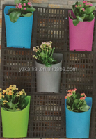 outdoor garden plastic colorful wall hanging flower pots new