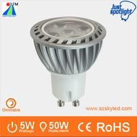 High brightness 3030 smd led spotlight GU10 MR11 5w